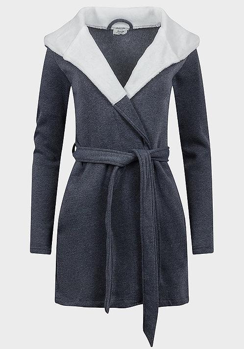 Avon Fleece Lined Hooded Jersey Lounge Robe