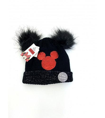 Disney Minnie Mouse Sequin Pom Pom  Hat