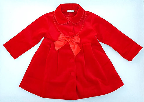 Girls Red Traditional Spanish, Romany Style Coat