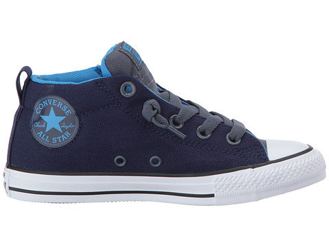 Converse Chuck Taylor All Star Street Mid Junior Shoes Midnight Indigo/Sharkskin