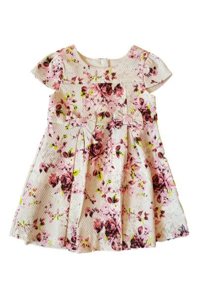 Girls Textured Floral Party Dress *mcare