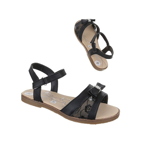 Girls diamante Bow Lace Sandals