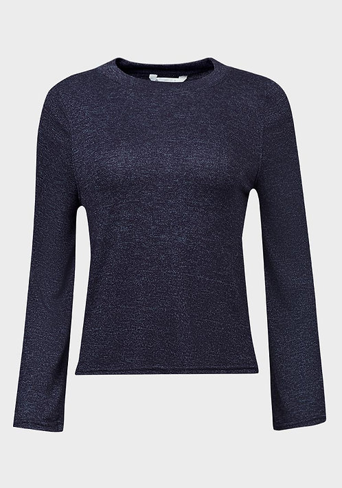 B Collection Ladies Bell Sleeve Crop Knit Top