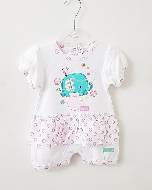 Baby Girls Zip Zap Elephant Skirt Romper