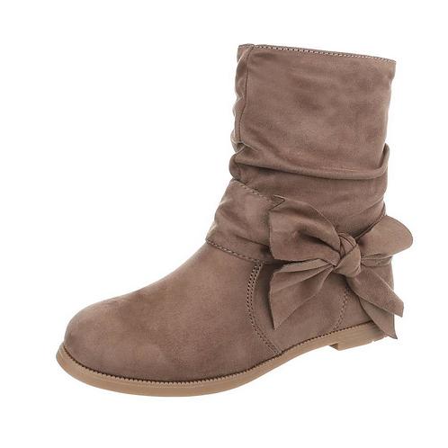 Girls Bow Calf Boots
