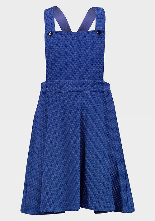 Girls Textured Pinafore Dress
