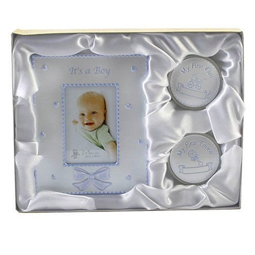 Its a boy, My first tooth and curl gift set
