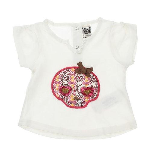 Baby Sequin Skull Tshirt