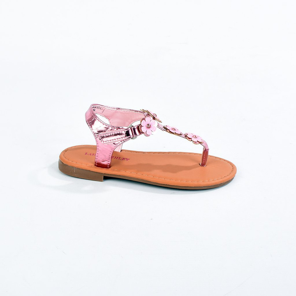 Laura Ashley Thong Glitter Flower Sandal