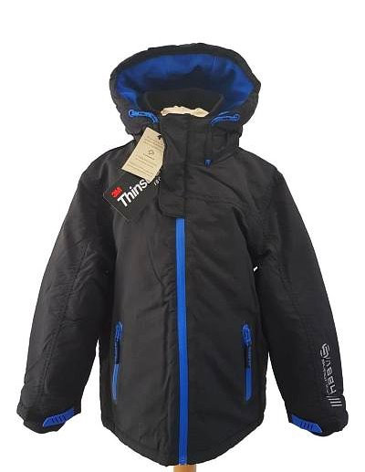 Boys Black Thinsulate Winter Coat