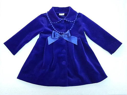Girls Blue Traditional Spanish, Romany Style Coat