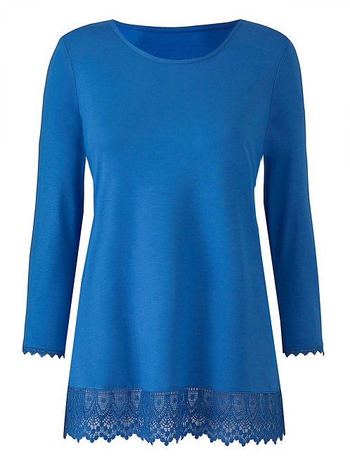 Julipa IRIS Crochet Trim Jersey Tunic - Plus Size