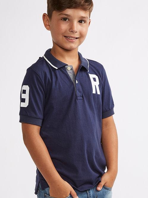 Boys Navy Riot club Polo T-Shirt