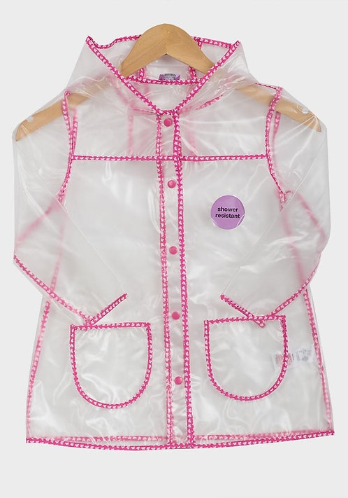 Girls Clear Raincoat