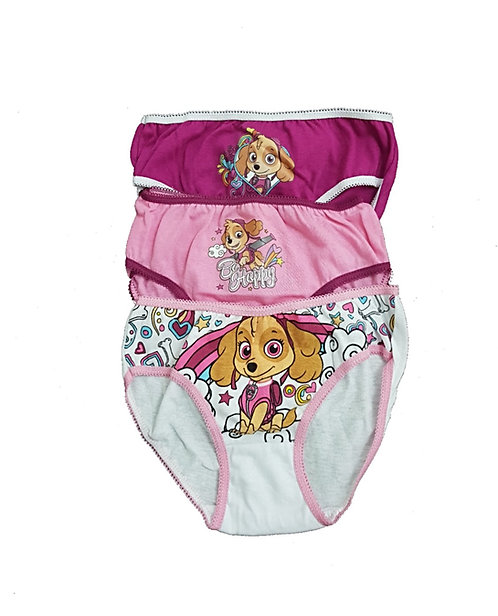 Nickelodeon Paw Patrol Skye 3-PACK Cotton Girls Briefs