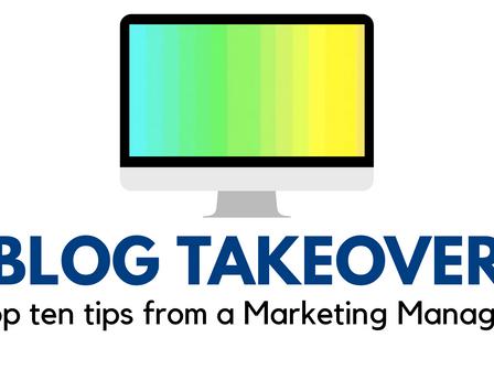 Top ten tips from Marketing Manager Rachel Allen