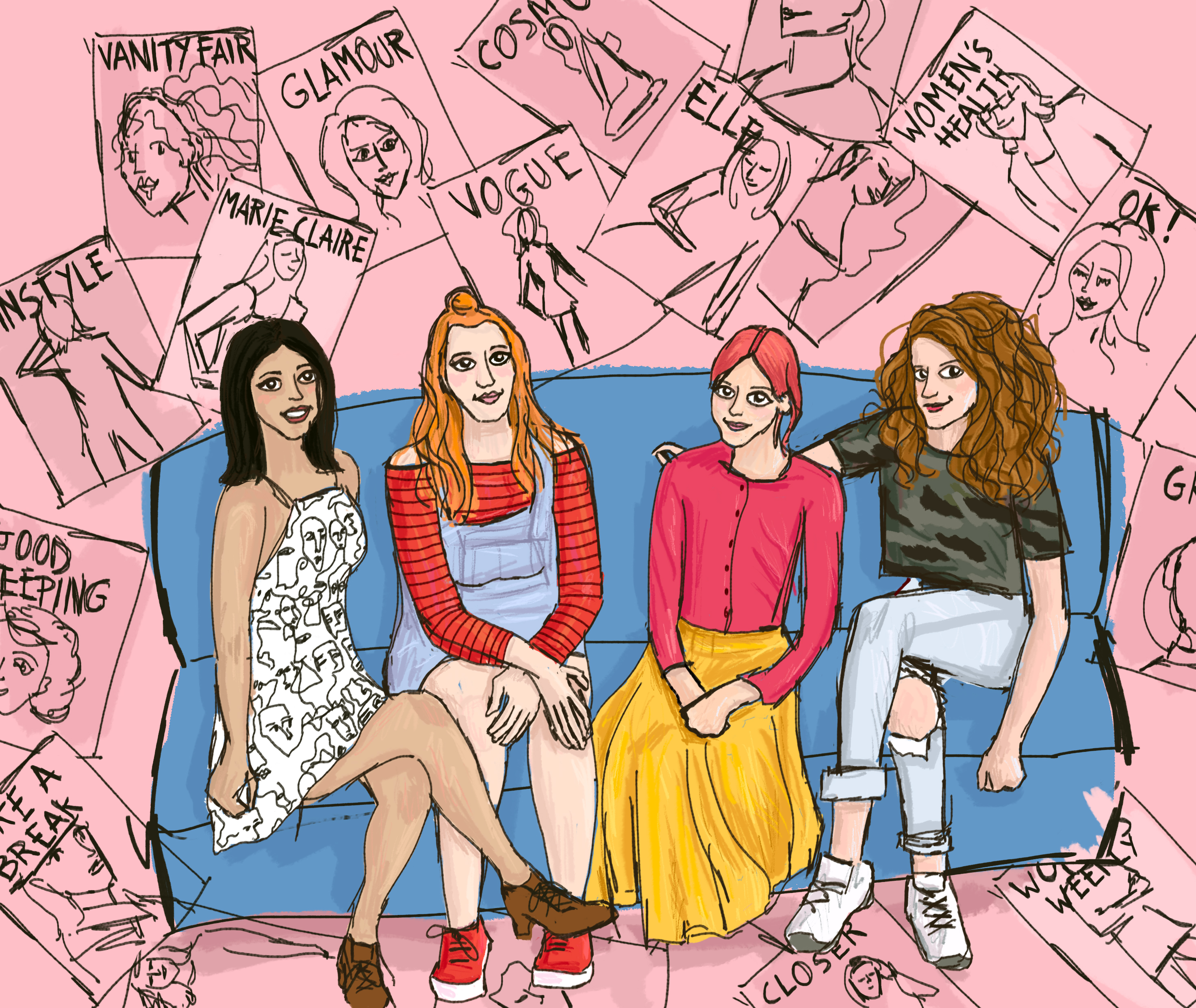 Radio 4 Illustration - Women's Mags