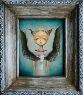 《杀死一只知更鸟》20cm X25cm  木板油画.jpg