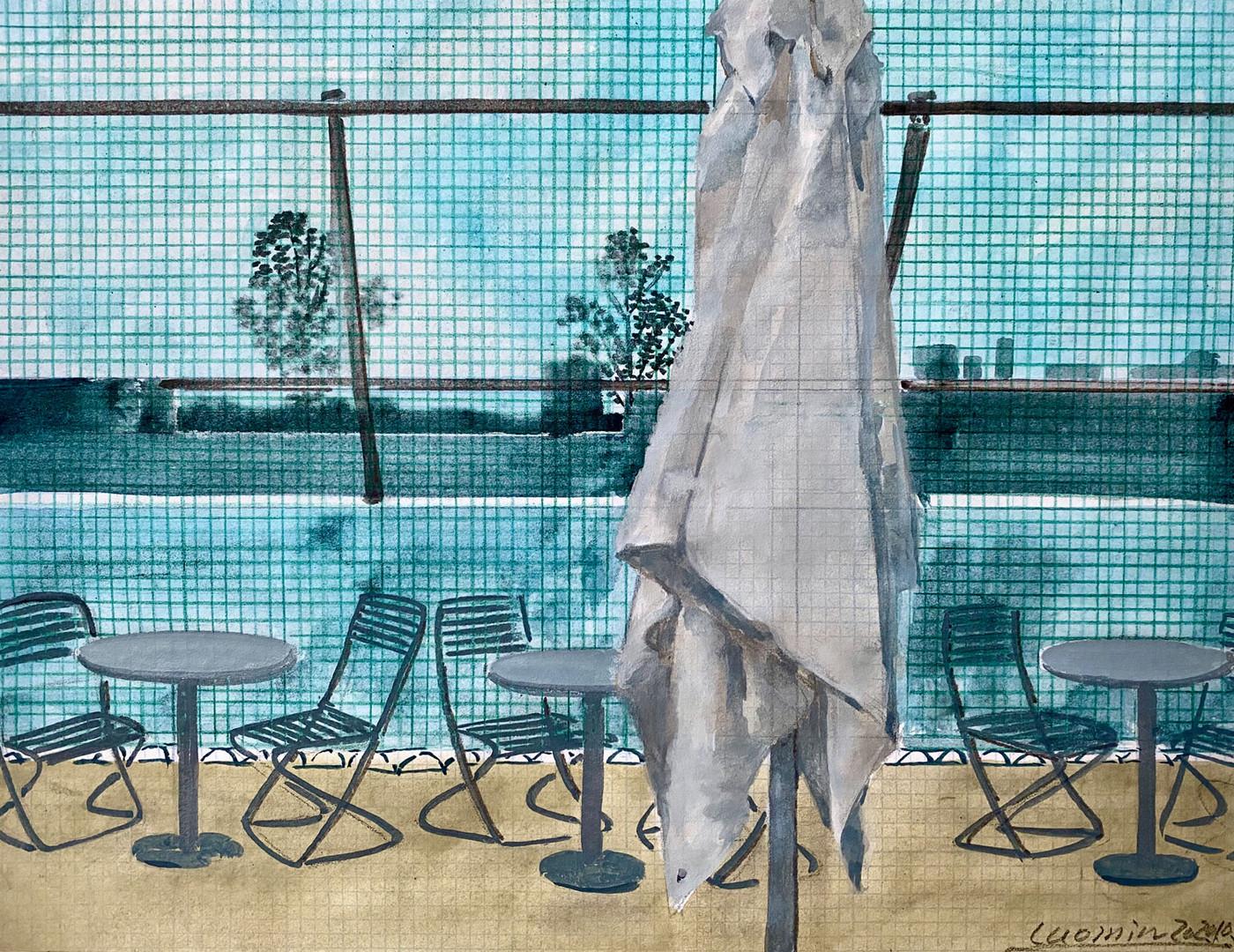 26号码头No.4  26 pier No.4布面油画Oil on canvas