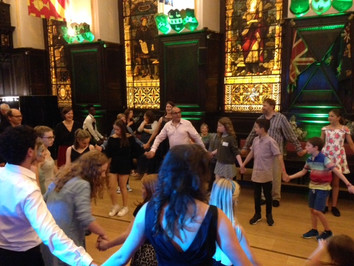 Stationers Hall, London. Lots of space for dancing.