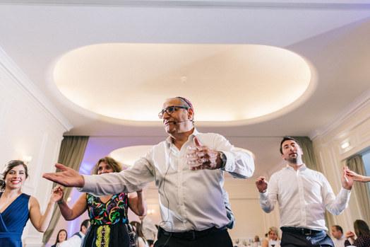 Led Israeli dancing at the Wedding of Clelia and George, London Zoo ©Bebb