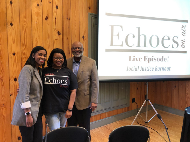 Panelist Brittanie Gray, Producer Janelle Gray, and Sponsor Ed Gray, The Commish