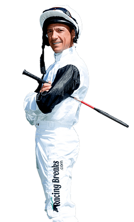 Frankie Dettori wearing jockey silks