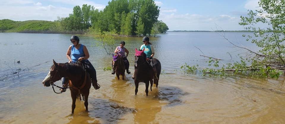 Riding in the Calamus Reservoir