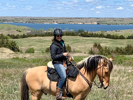 Riding at the Calamus Reservoir