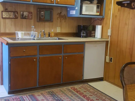 Horse Lover's Bunkhouse Kitchen