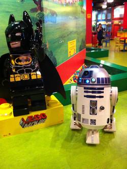 R2-D2 and Batman