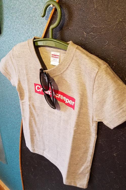 Creeps creeperロゴ入りTシャツ(グレー)