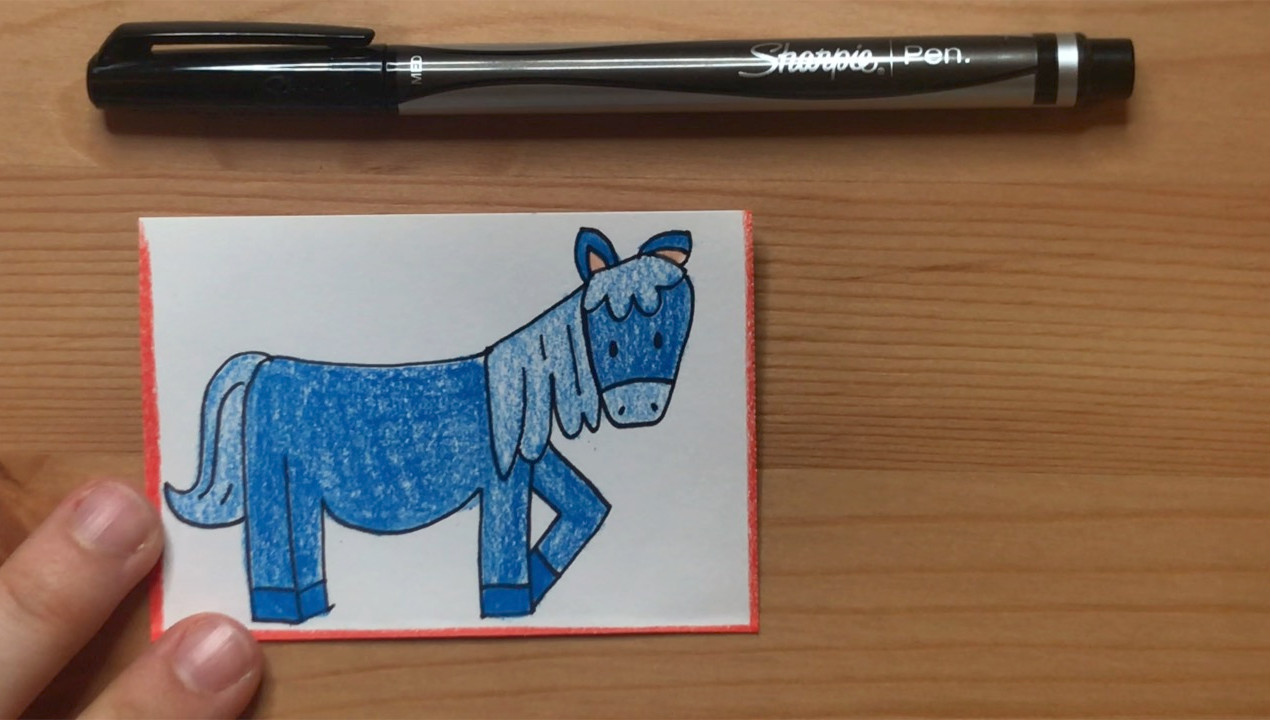 """Blue Horse  from """"Brown Bear, Brown Bear, What Do You See?"""""""