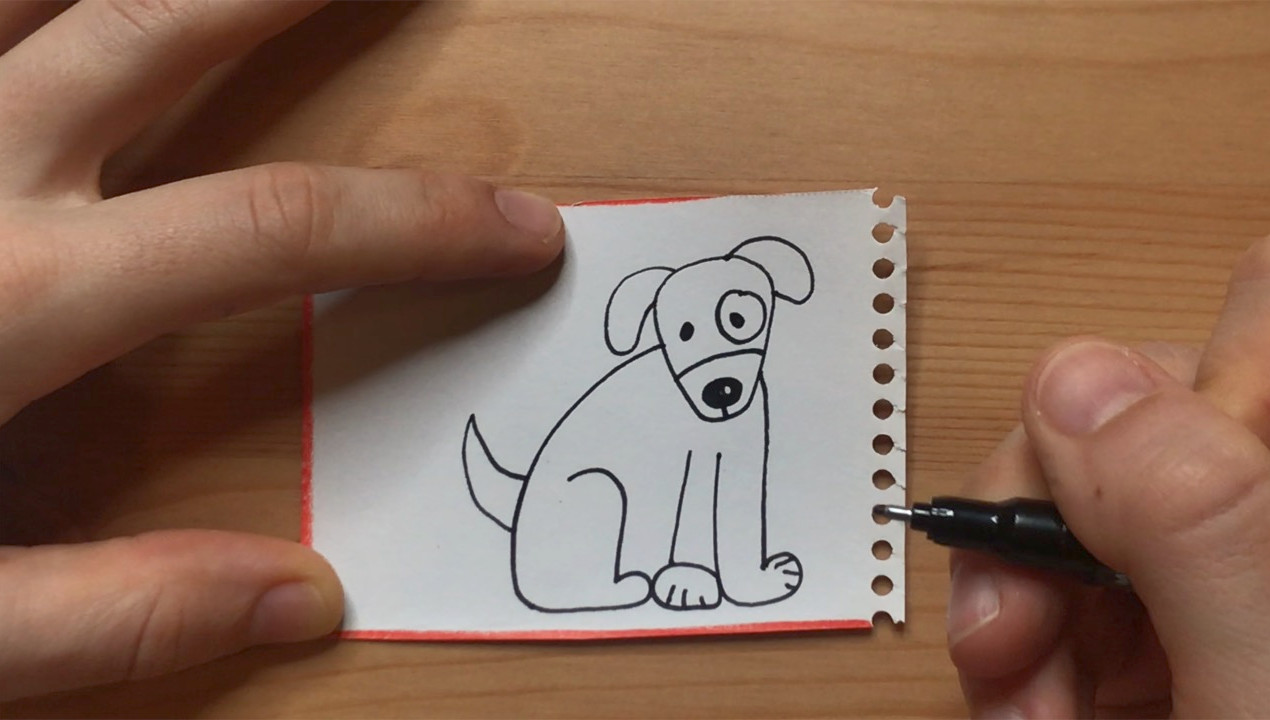 """Dog drawing from """"Brown Bear, Brown Bear, What Do You See?"""""""