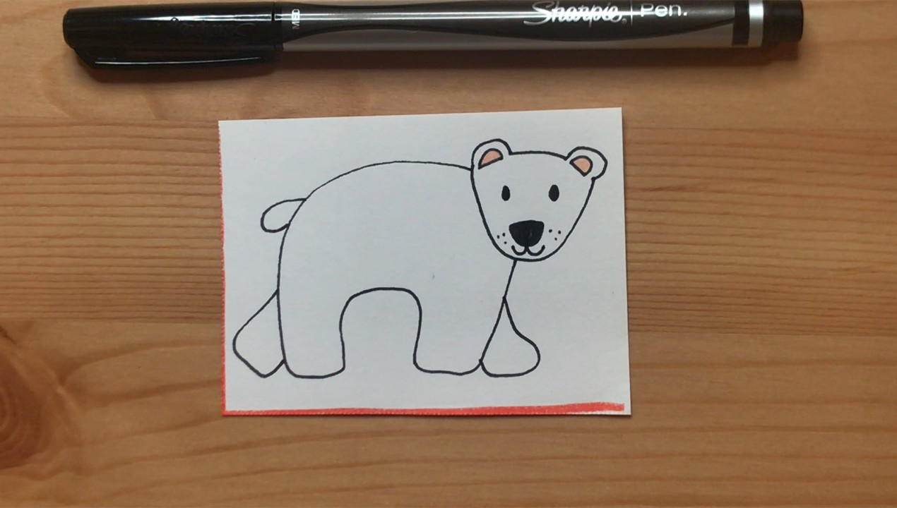"""Bear drawing from """"Brown Bear, Brown Bear, What Do You See?"""""""