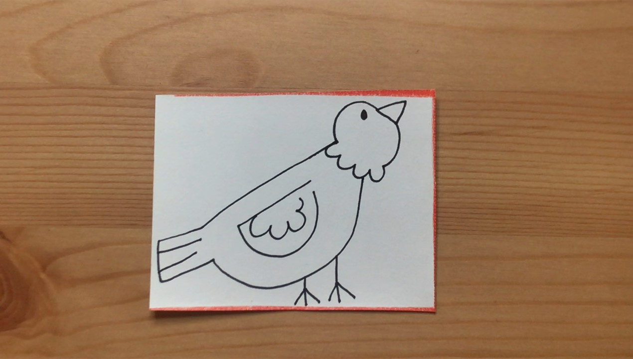 """Bird drawing from """"Brown Bear, Brown Bear, What Do You See?"""""""
