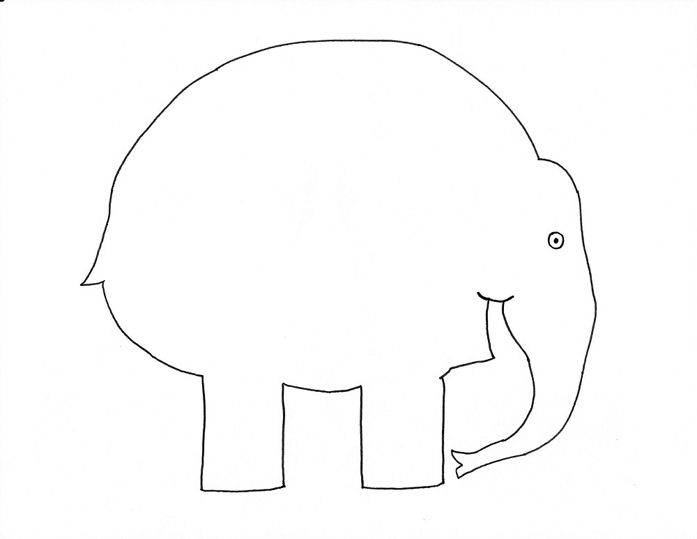 This is a graphic of Elmer the Elephant Printable in book