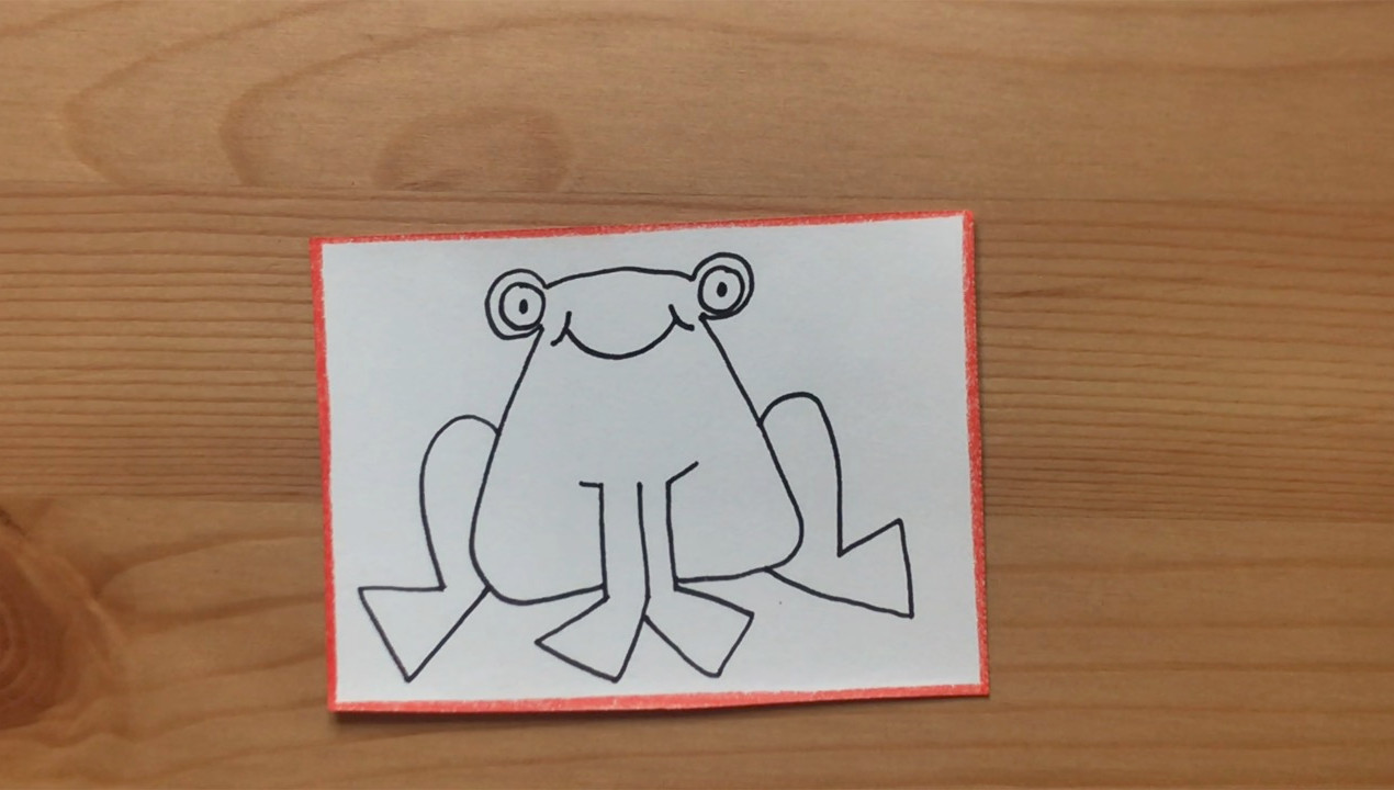 """Frog drawing from """"Brown Bear, Brown Bear, What Do You See?"""""""