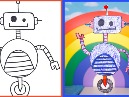 Draw a Robot Step by Step!