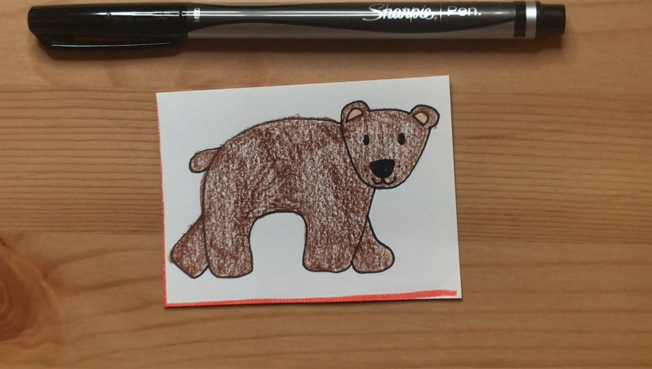 """Brown Bear  from """"Brown Bear, Brown Bear, What Do You See?"""""""