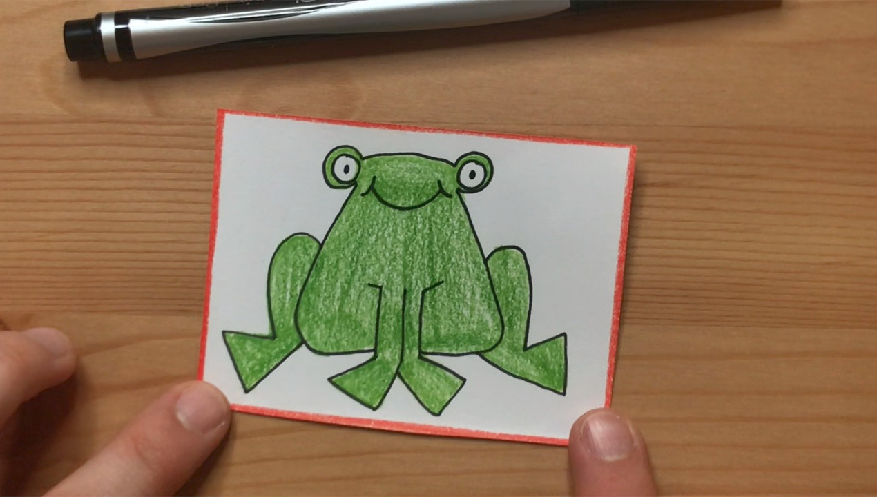 """Green frog from """"Brown Bear, Brown Bear, What Do You See?"""""""