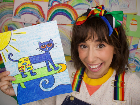 How to Draw Pete the Cat: Summertime Surfing!