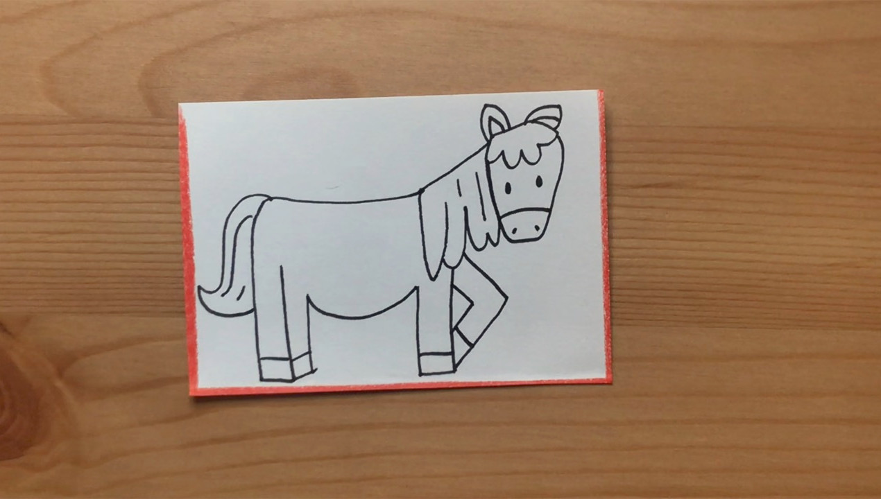 """Horse drawing from """"Brown Bear, Brown Bear, What Do You See?"""""""