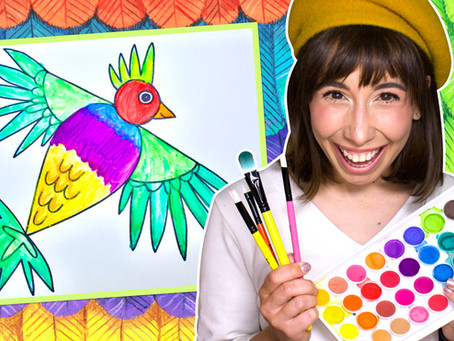 How to Draw a Colorful Bird!
