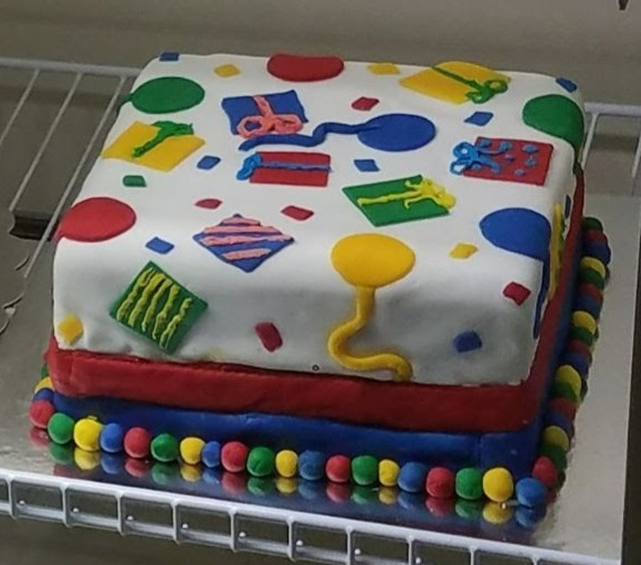 Presents Custom Cake
