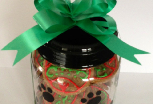 Paw Print Treat Filled Container