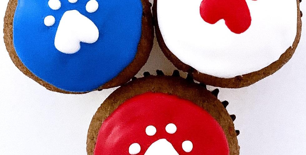 Mini Patriotic Pupcakes - 3 per order