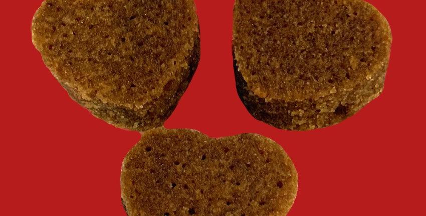 Carob/All Natural Peanut Butter Heart Brownies
