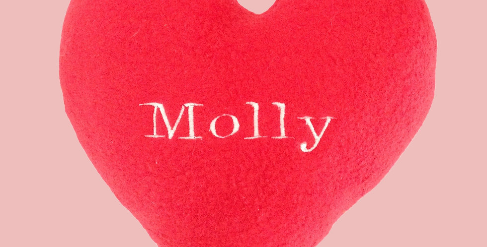Personalized Squeaky Plush Heart Toy