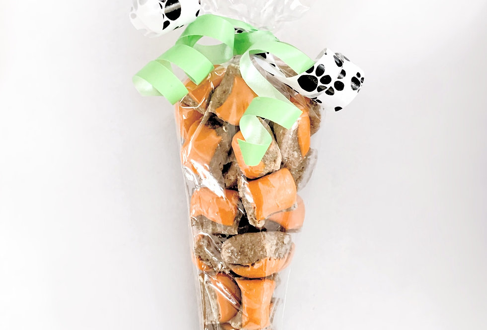 Carrot Shaped Bag of 25 Barney Bites